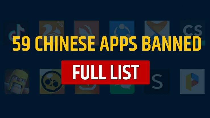 Chinese Apps Banned in India with Immediate Effect